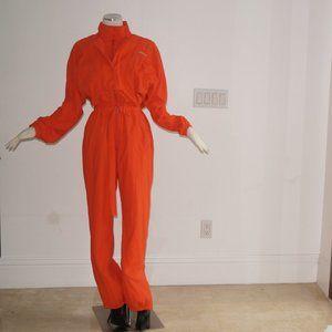 Other - Orange Sweatsuit Romper